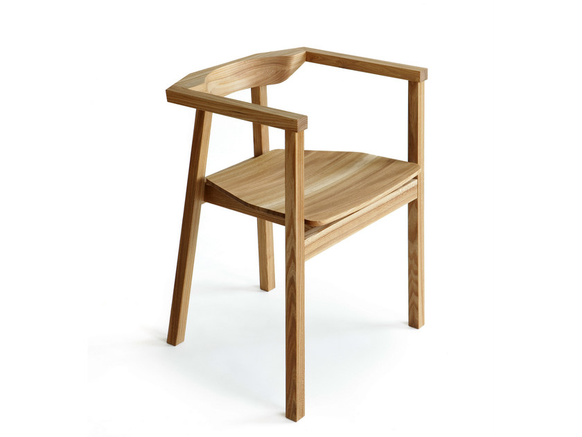 Wooden chair with armrests SKANDINAVIA UPSALA KVT6 - Nikari