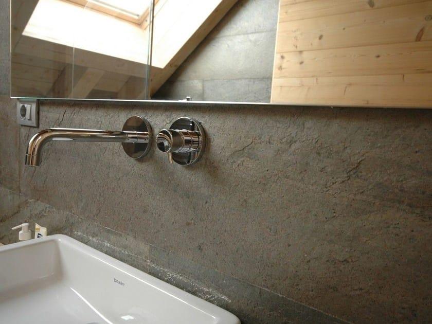 Ultra thin laminate wall tiles with stone effect ARDESIAlite™ - LEGNOPAN
