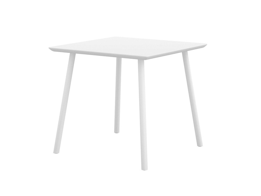 Contemporary style square wood-product table MAARTEN | Square table - Viccarbe