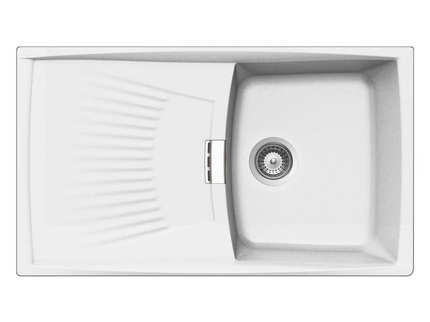Built-In Unigranit Sink L1G86WH | Sink - Glem Gas