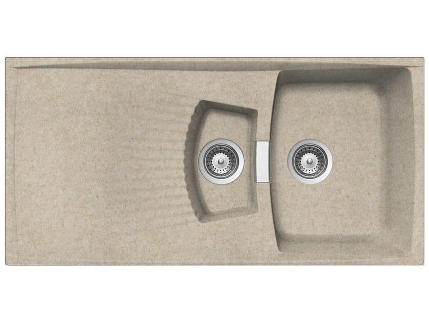 Built-In Unigranit Sink L2G10S | Sink by Glem Gas