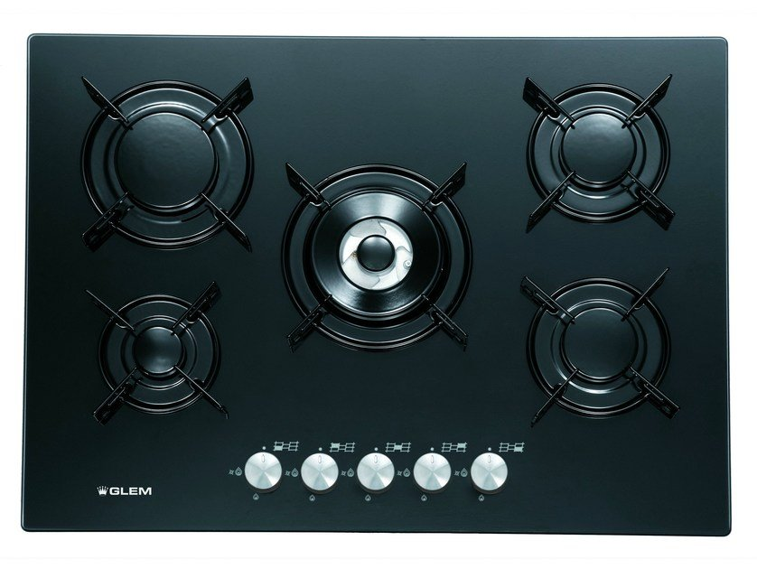 Gas built-in hob GV755BK | Hob - Glem Gas