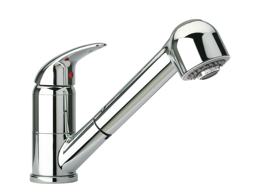 Chrome-plated kitchen mixer tap with pull out spray MIXDX | Kitchen mixer tap by Glem Gas
