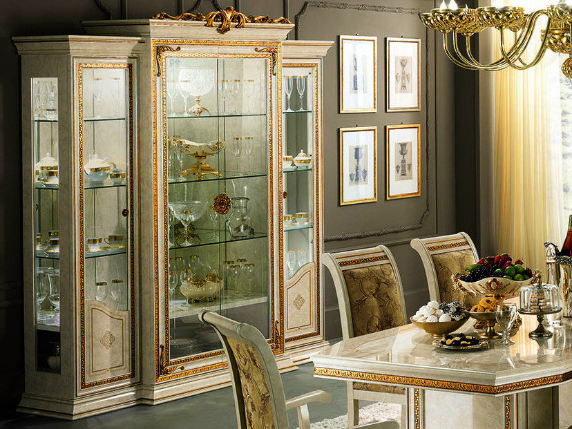 Classic style wooden display cabinet LEONARDO   Display cabinet - Arredoclassic