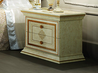 Rectangular bedside table with drawers LEONARDO | Bedside table - Arredoclassic
