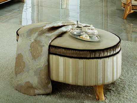 Upholstered fabric pouf MELODIA | Pouf - Arredoclassic