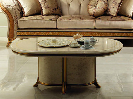 Oval coffee table for living room MELODIA | Coffee table by Arredoclassic