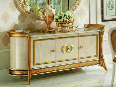 Wooden sideboard with doors MELODIA | Sideboard by Arredoclassic