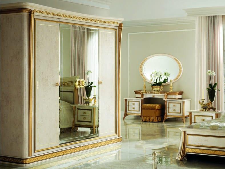 Mirrored wooden wardrobe MELODIA | Wardrobe - Arredoclassic