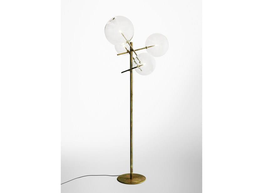 Halogen brass floor lamp BOLLE TERRA - Gallotti&Radice