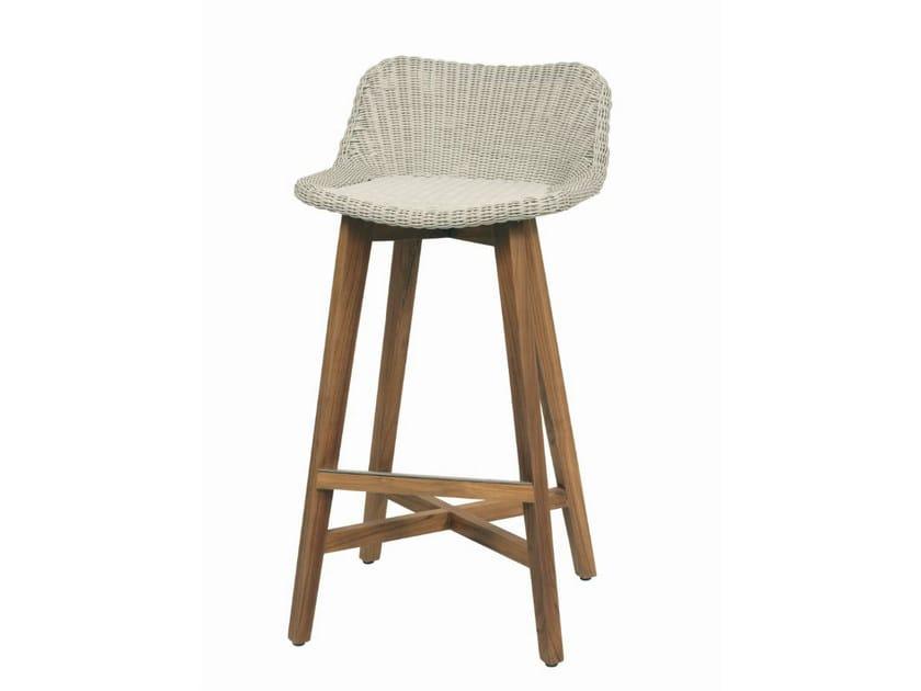 High garden stool GIPSY | High stool by Il Giardino di Legno
