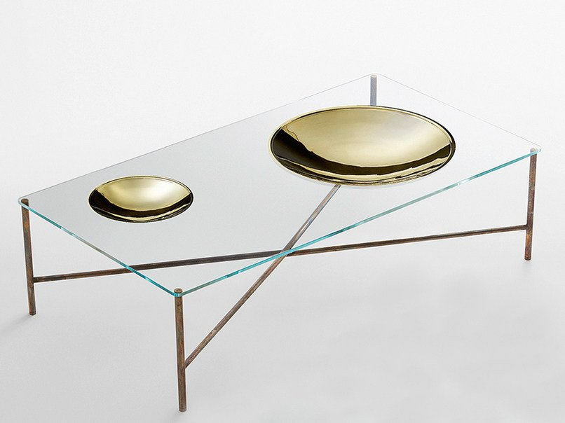 Low rectangular coffee table for living room GOLDEN MOON | Rectangular coffee table - Gallotti&Radice
