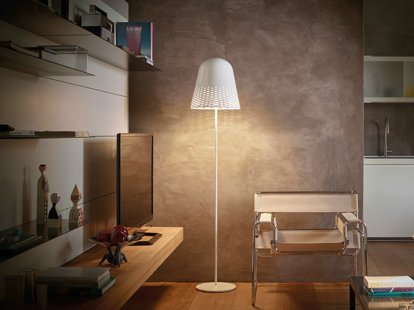 Aluminium floor lamp CAPRI F1 by Rotaliana
