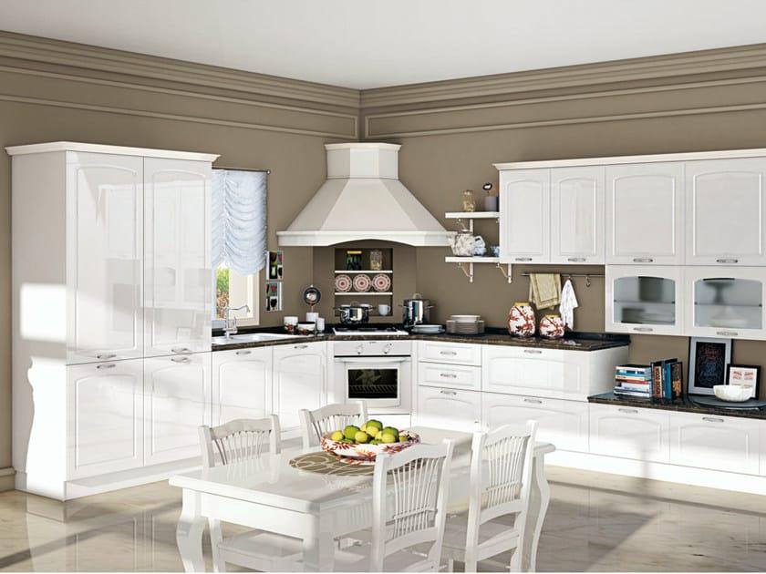 Cucina componibile lineare con maniglie ELIN by CREO ...