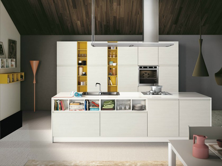 Fitted kitchen with island JEY - CREO Kitchens by Lube