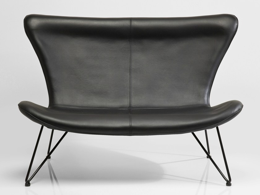 2 seater high-back sofa MIAMI BLACK by KARE-DESIGN