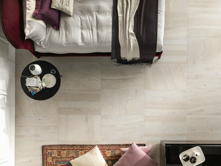 Porcelain stoneware wall/floor tiles with marble effect FLOW IVORY - EDIMAX CERAMICHE