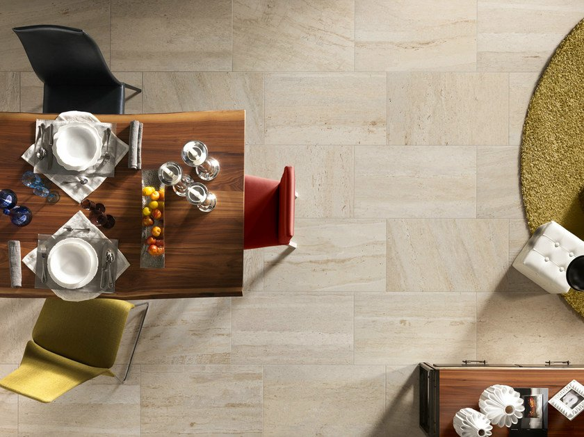 Porcelain stoneware wall/floor tiles with marble effect FLOW AMBER - EDIMAX CERAMICHE