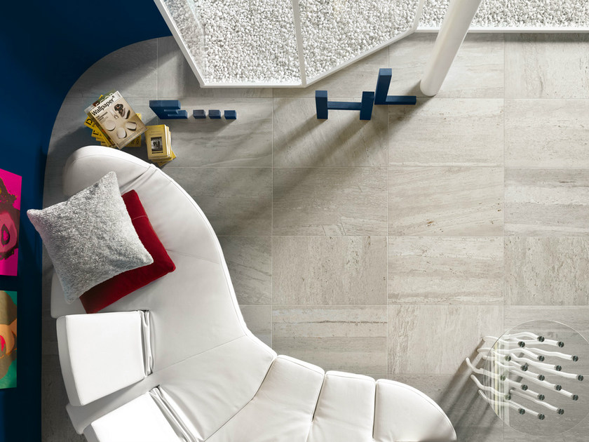 Porcelain stoneware wall/floor tiles with marble effect FLOW SILVER - EDIMAX CERAMICHE