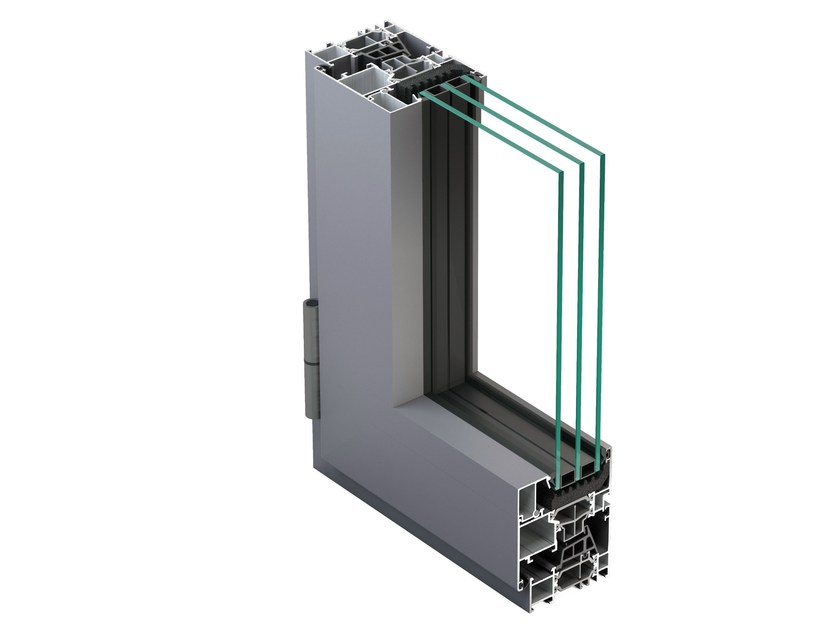 Aluminium casement window NC 65 STH HES - METRA