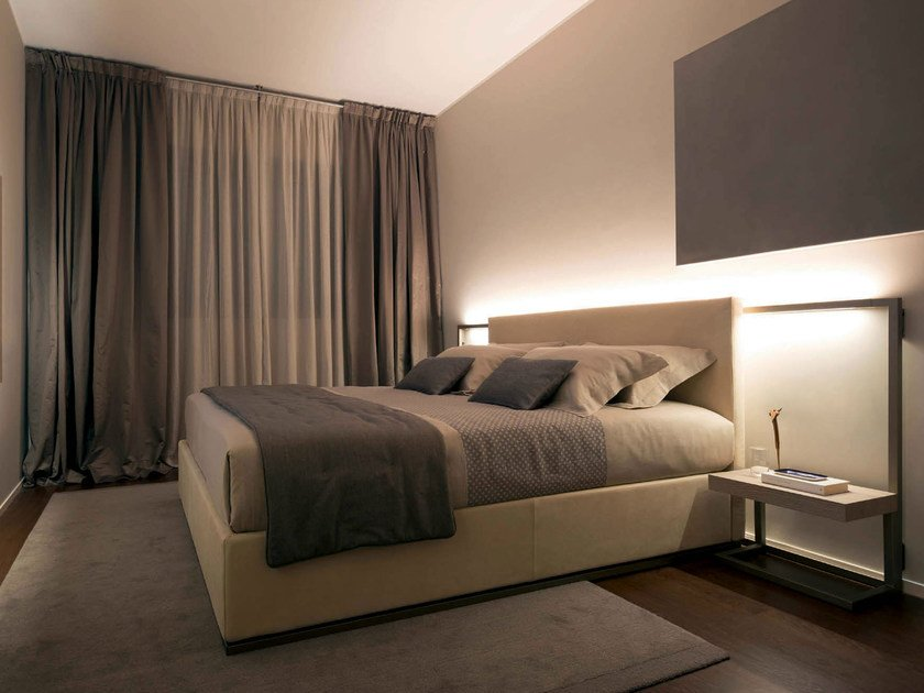 Double bed with upholstered headboard CONTINUUM | Double bed - Natevo