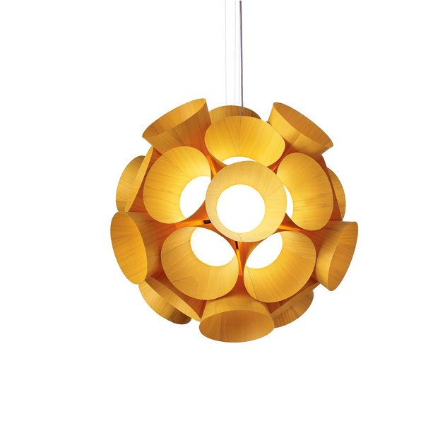 LED handmade wood veneer pendant lamp DANDELION - LZF