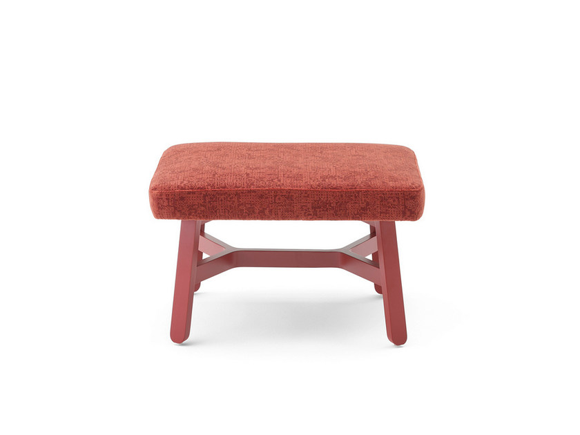 Upholstered fabric pouf CROISSANT | Pouf - BILLIANI