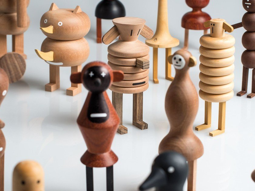 Wooden sculpture FUNNY FARM - LZF