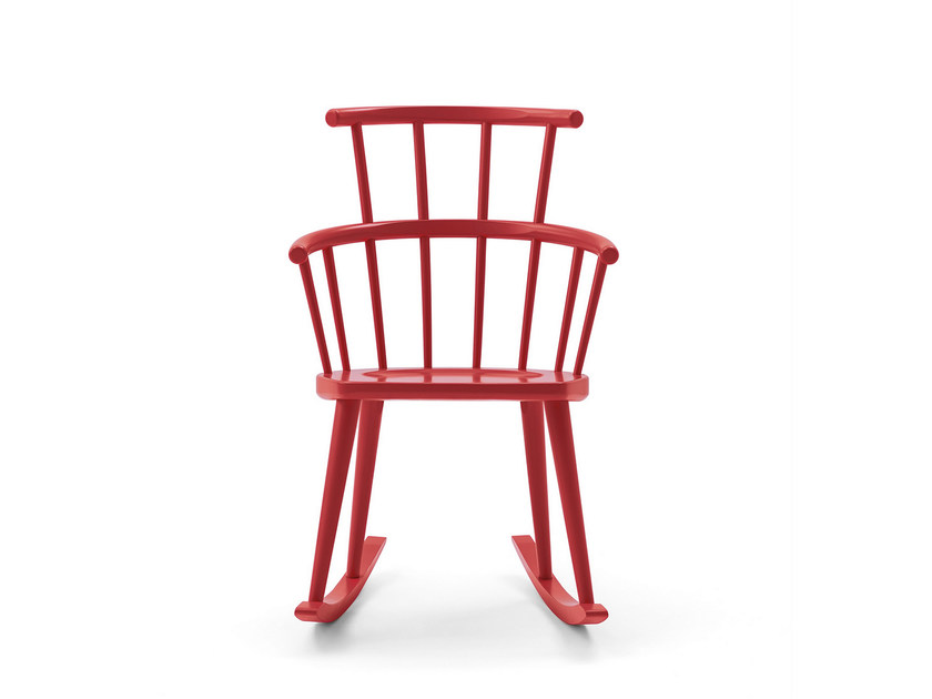 Rocking lacquered high-back chair W. | Rocking chair - BILLIANI