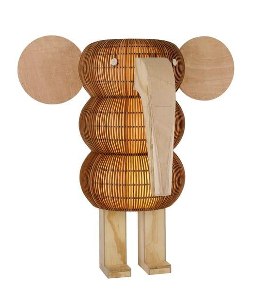 Handmade wooden floor lamp ELEPHANT LS by LZF