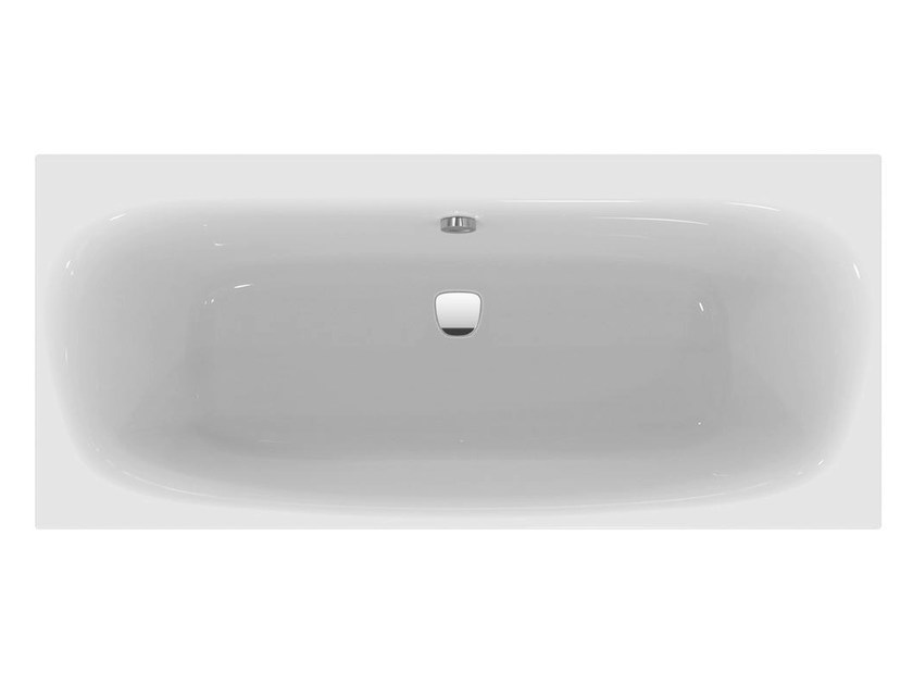 Vasca da bagno rettangolare in ceramica da incasso dea - Vasca da bagno ceramica ...