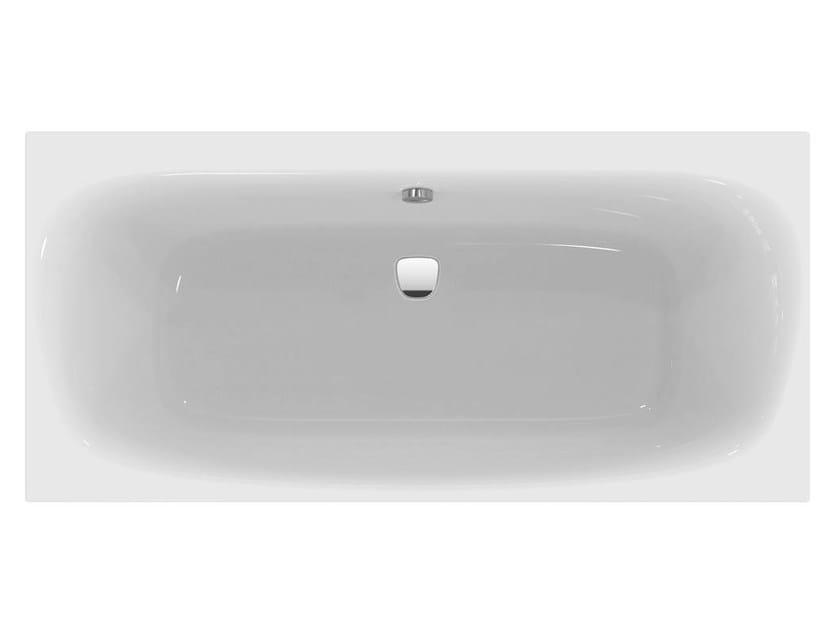 Vasca da bagno rettangolare in ceramica da incasso dea - Prezzi vasche da bagno ideal standard ...