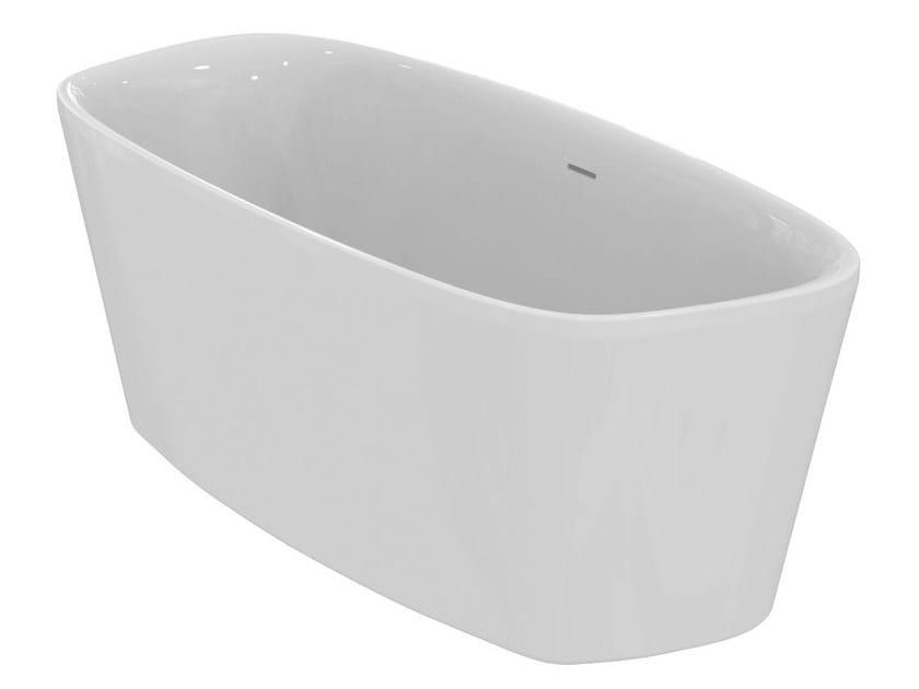 Vasca da bagno centro stanza in ceramica dea e3066 ideal standard for Vasca da bagno prezzi ideal standard