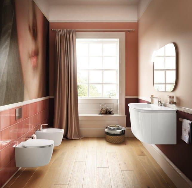 Vasca da bagno centro stanza in ceramica dea e3068 ideal standard - Vasca da bagno standard ...