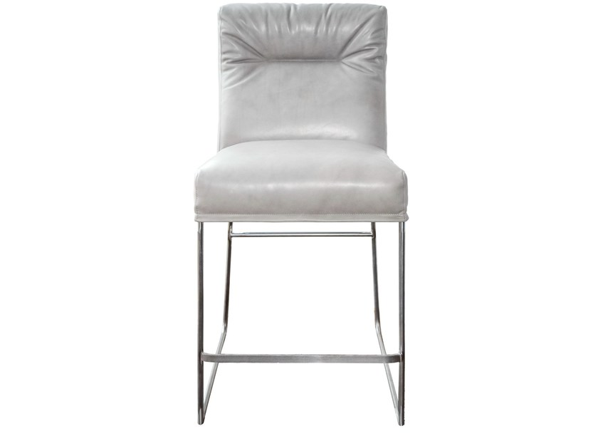Upholstered leather counter stool D-LIGHT   Counter stool by KFF