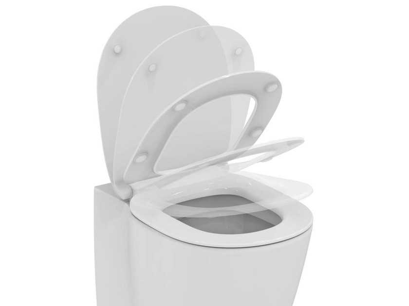 Toilet seat with soft close CONNECT - E7724 - Ideal Standard Italia