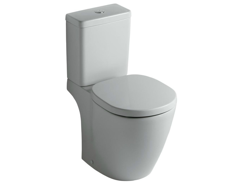 Close coupled ceramic toilet CONNECT - E8038 - Ideal Standard Italia