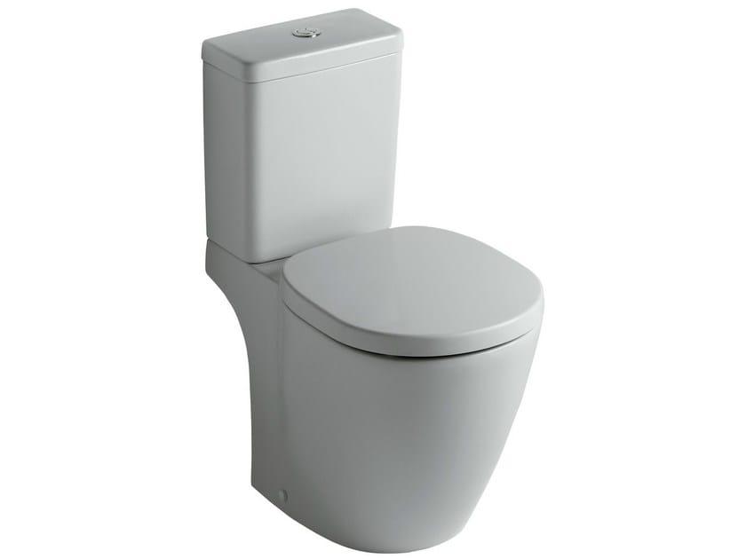 Close coupled ceramic toilet CONNECT - E8036 - Ideal Standard Italia