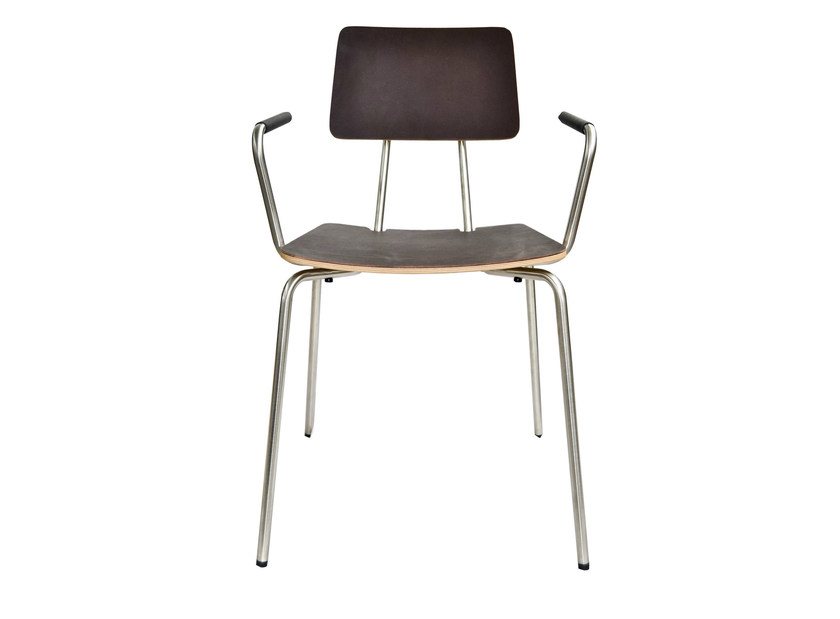 Leather chair with armrests STAN | Chair with armrests - KFF