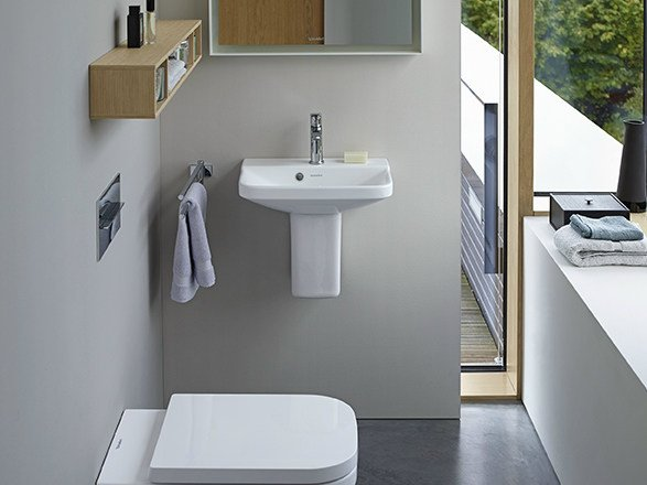 Single wall-mounted washbasin P3 COMFORTS | Wall-mounted washbasin - DURAVIT