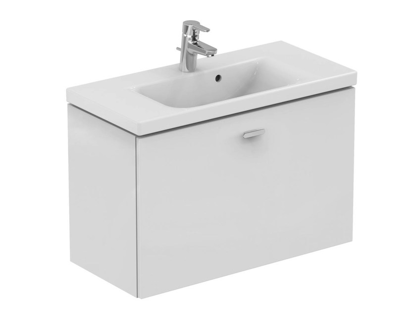 Single wall-mounted vanity unit with drawers CONNECT SPACE - E0318 - Ideal Standard Italia