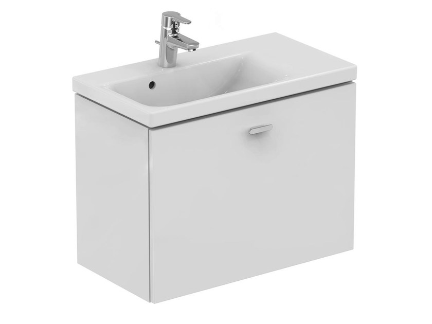 Single wall-mounted vanity unit with drawers CONNECT SPACE - E0317 - Ideal Standard Italia