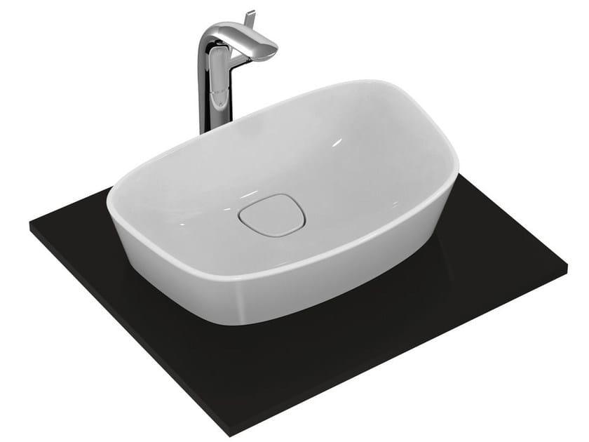 Countertop single ceramic washbasin DEA - T0443 - Ideal Standard Italia