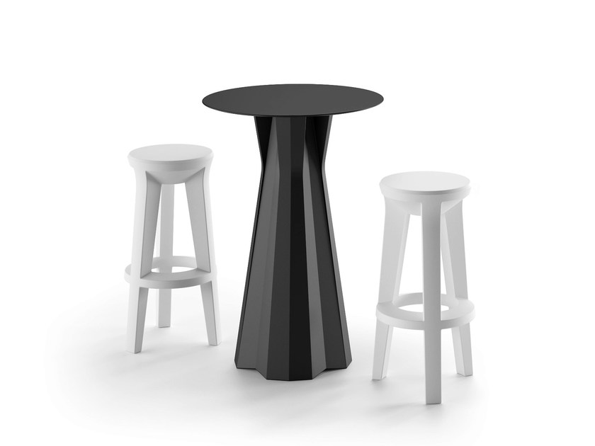 Round high table FROZEN | Round table - PLUST Collection by euro3plast
