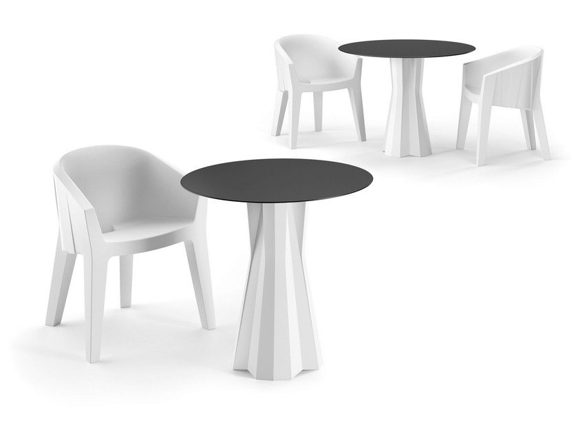 Round table FROZEN DINING TABLE - PLUST Collection by euro3plast