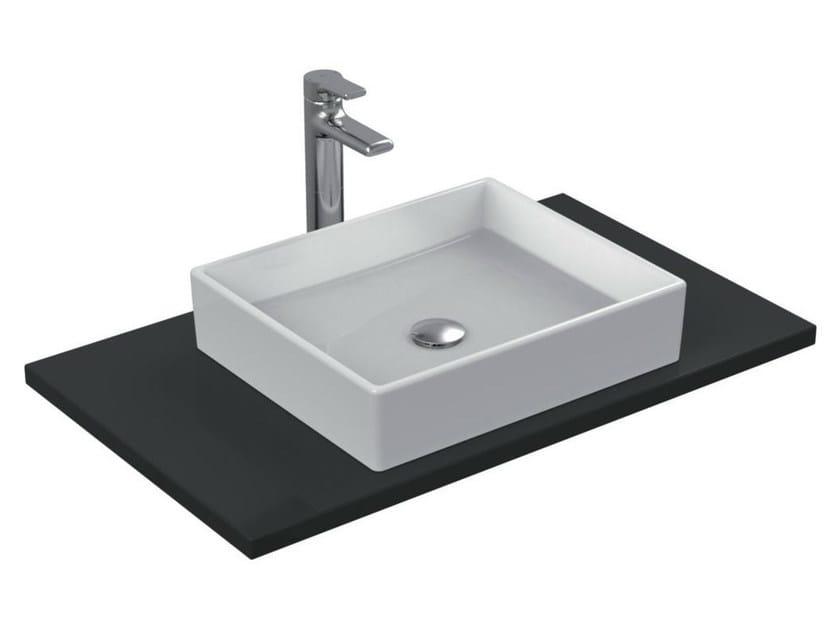 Countertop rectangular single ceramic washbasin STRADA - K0776 - Ideal Standard Italia