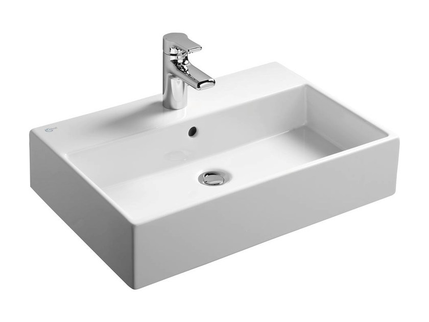 Rectangular single ceramic washbasin STRADA - K0778 - Ideal Standard Italia