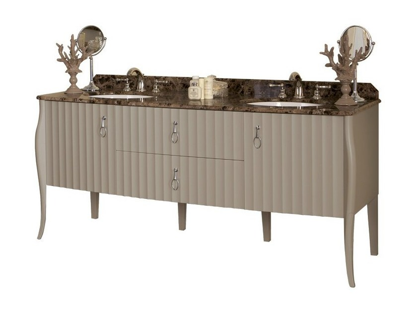 Double lacquered vanity unit with drawers CHARLOTTE | Double vanity unit by GENTRY HOME