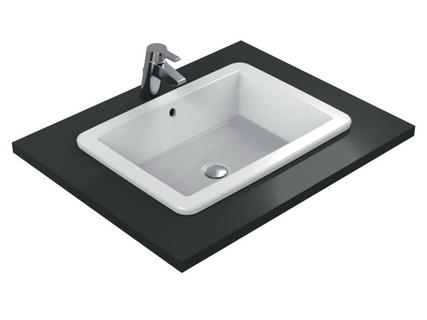 Inset rectangular washbasin STRADA - K0780 - Ideal Standard Italia