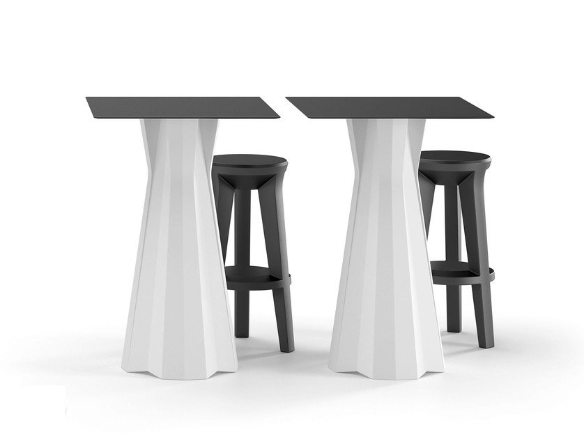 Polyethylene table FROZEN | High table by Plust